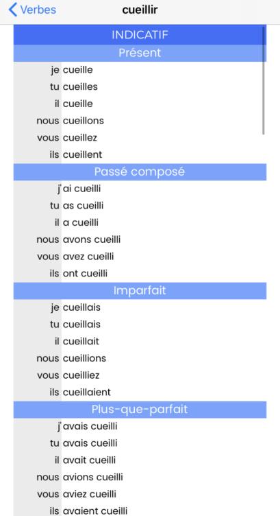 Conjugaisons Francaises Pc Astuces