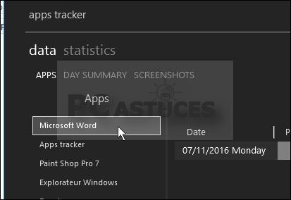 Garder un oeil sur l'utilisation de son ordinateur Apps_tracker_27