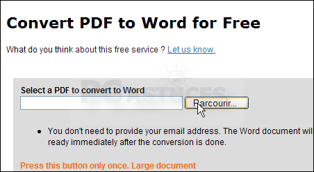 Pc astuces convertir un pdf en document word ou openoffice - Convertir fichier pdf en open office ...