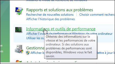 Windows 8. 1 / 10: retrouver l'indice de performance. Sospc.