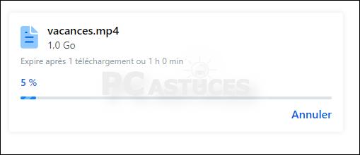 Envoyer un fichier volumineux de manière sécurisée avec Firefox Send Firefox_send_04