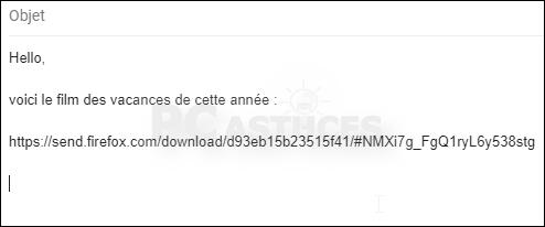 Envoyer un fichier volumineux de manière sécurisée avec Firefox Send Firefox_send_06