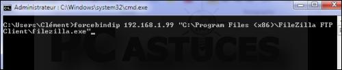 Forcer un logiciel à utiliser une connexion réseau spécifique Forcer_connexion_21