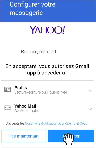 Gmailifier un compte Yahoo!, Outlook ou Orange Gmailify_06