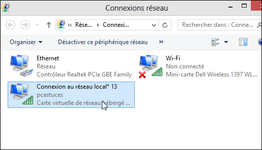 pc astuces partager sa connexion internet via le wifi avec windows 8. Black Bedroom Furniture Sets. Home Design Ideas