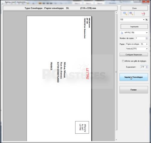 Sehr PC Astuces - Imprimer ses enveloppes EM71