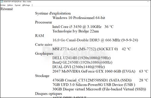 Dossier : Lister les composants de son ordinateur Lister_composants_13