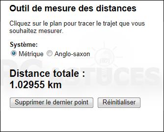 mesurer les distances