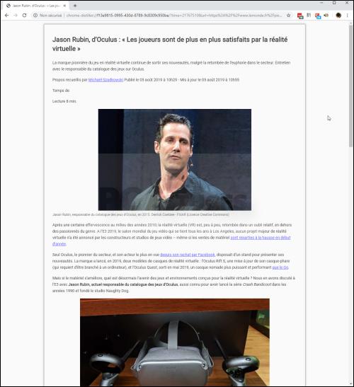 Nettoyer une page Web avant de l'imprimer Mode_lecture_06