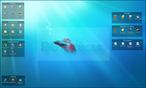 Pc astuces organiser son bureau - Personnaliser son bureau windows 7 ...