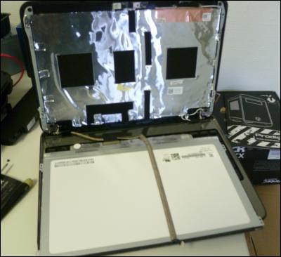Pc astuces remplacer l 39 cran cass de son ordinateur for Ecran pc son