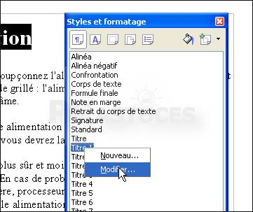 Pc astuces cr er une table des mati res pour un document - Telecharger open office pour tablette ...