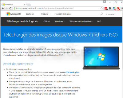 telecharger image iso windows 7
