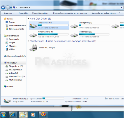 Pc astuces a la d couverte de windows 7 - Ordinateur de bureau windows 7 pro ...