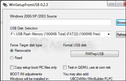FROM GRATUITEMENT USB WINSETUP TÉLÉCHARGER XP